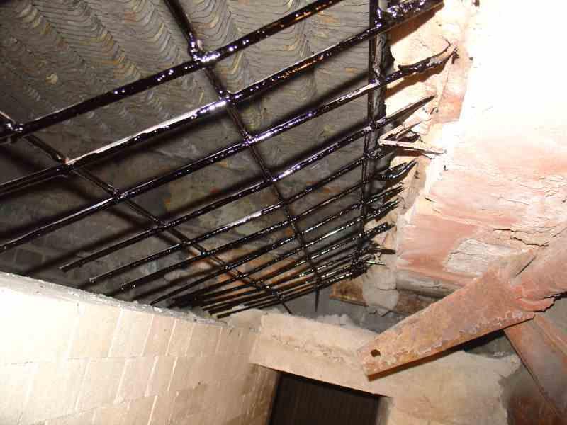 Reparatur und Bau der Rückwand der Feuerkammer des Kessels OR-32 und ...
